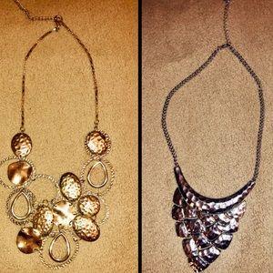 Silver/Gold Statement Necklace Bundle